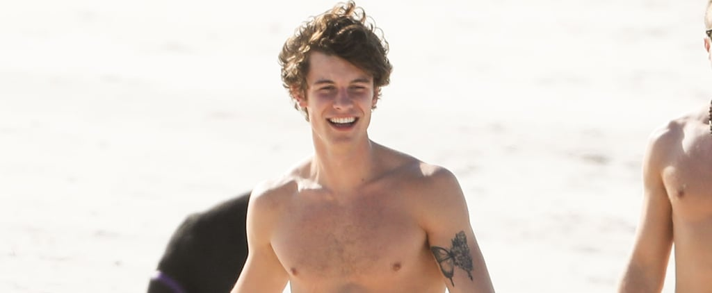 Shawn Mendes Looking Cute Shirtless in Australia Pictures