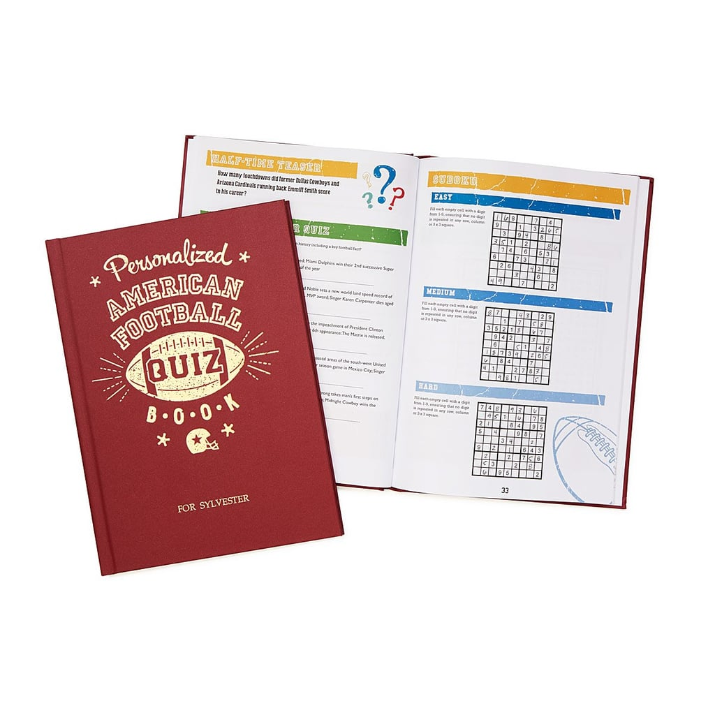 Personalized Football Trivia Book
