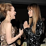 Olivia Wilde and Leslie Mann chat.
