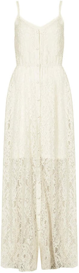 Rare cream lace button-down dress (£49)