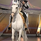 George Lopez Arrives at the 5th Latin Grammys on a Horse