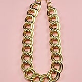 Vintage 90s Double Link Chain Necklace