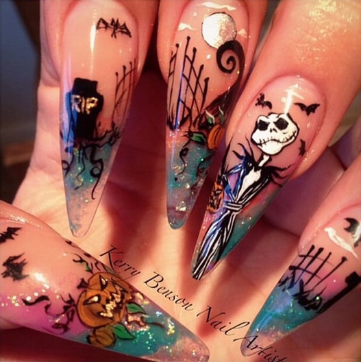 The Terrifying Nightmare Before Christmas - The Terrifying Nightmare Before Christmas Halloween Nail Art Ideas