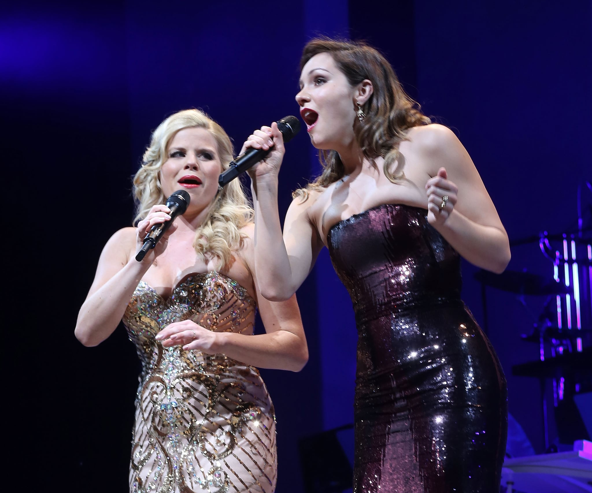 NEW YORK, NY - JUNE 09:  Megan Hilty and Katharine McPhee of the cast of NBC's