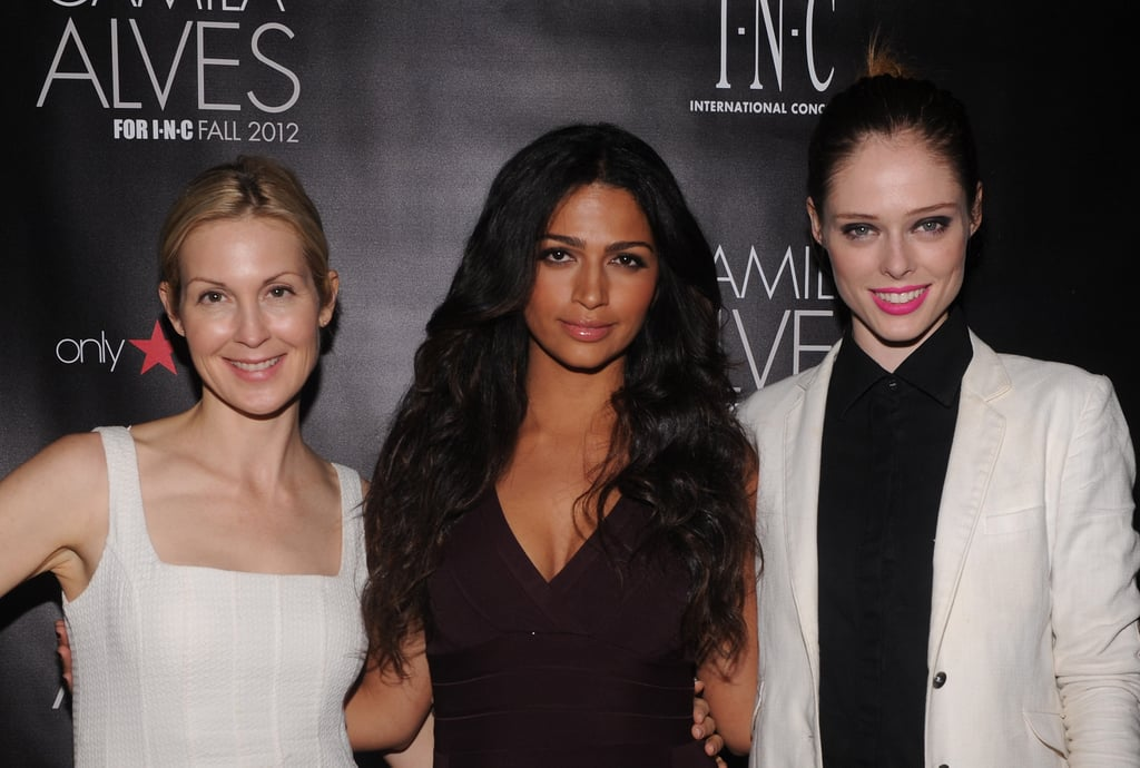 Camila Alves posed with Kelly Rutherford and Coco Rocha at her event in NYC.