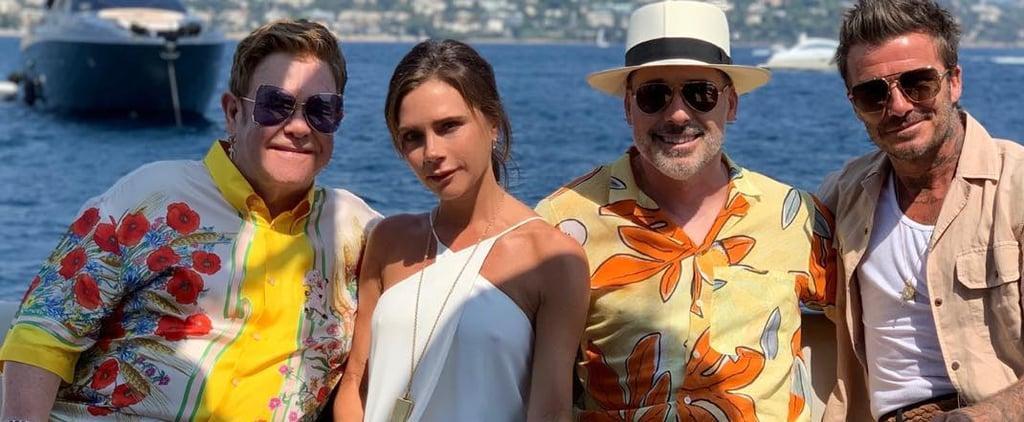 Victoria Beckham White Dress on Boat