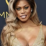 POPSUGAR: How do you get centered and focused before a big award show? Laverne Cox: I like to make sure that I have a moment to myself and to collect my thoughts before show time. I focus on myself and my breathing.  PS: Do you look to anyone for beauty inspiration? If so, who? LC: Beyoncé! She is so fierce, I find myself channeling my inner Beyoncé often.