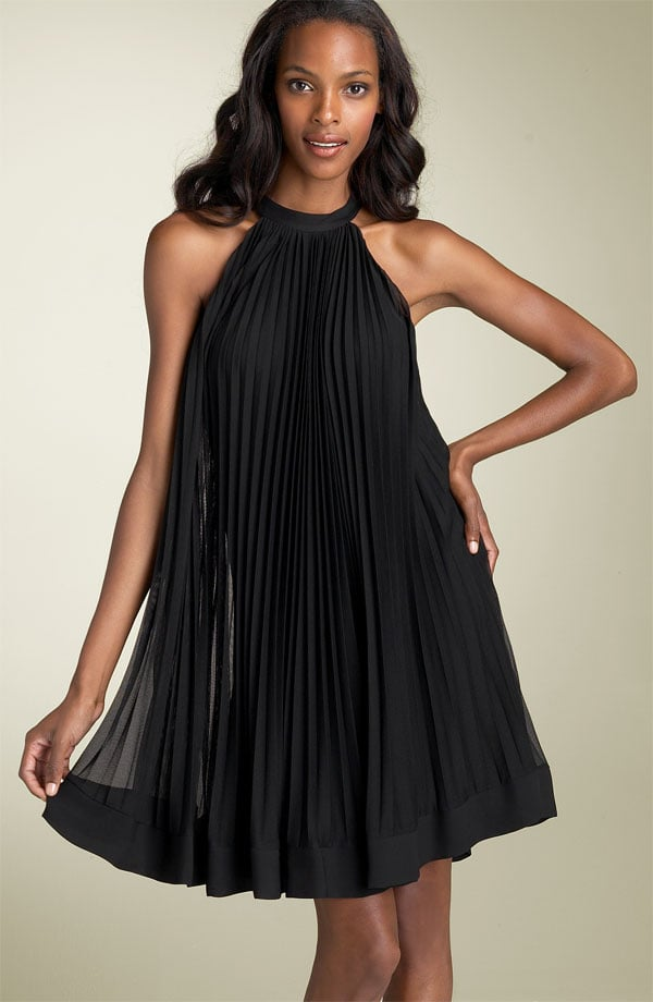 ECI Pleated Mesh Trapeze Dress $98 @ Nordstrom