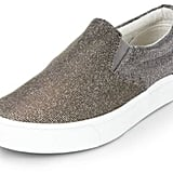 New Look Silver Glitter Slip On Plimsolls (£15)