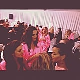 Rihanna chatted backstage before the show.  Source: Instagram user badgalriri