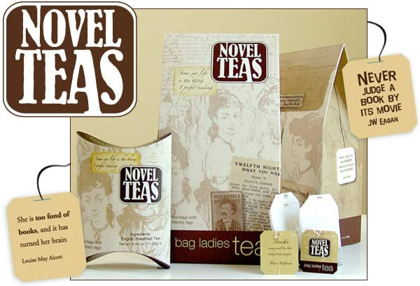 Novel Tea With Literary Quotes ($3 per pouch)