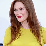Julianne Moore smiled on the red carpet at the Emmy Awards.