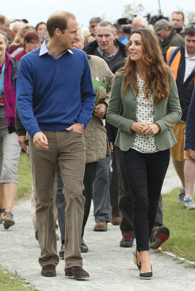 Kate and Will chatted in August 2013 while attending a marathon in Wales.