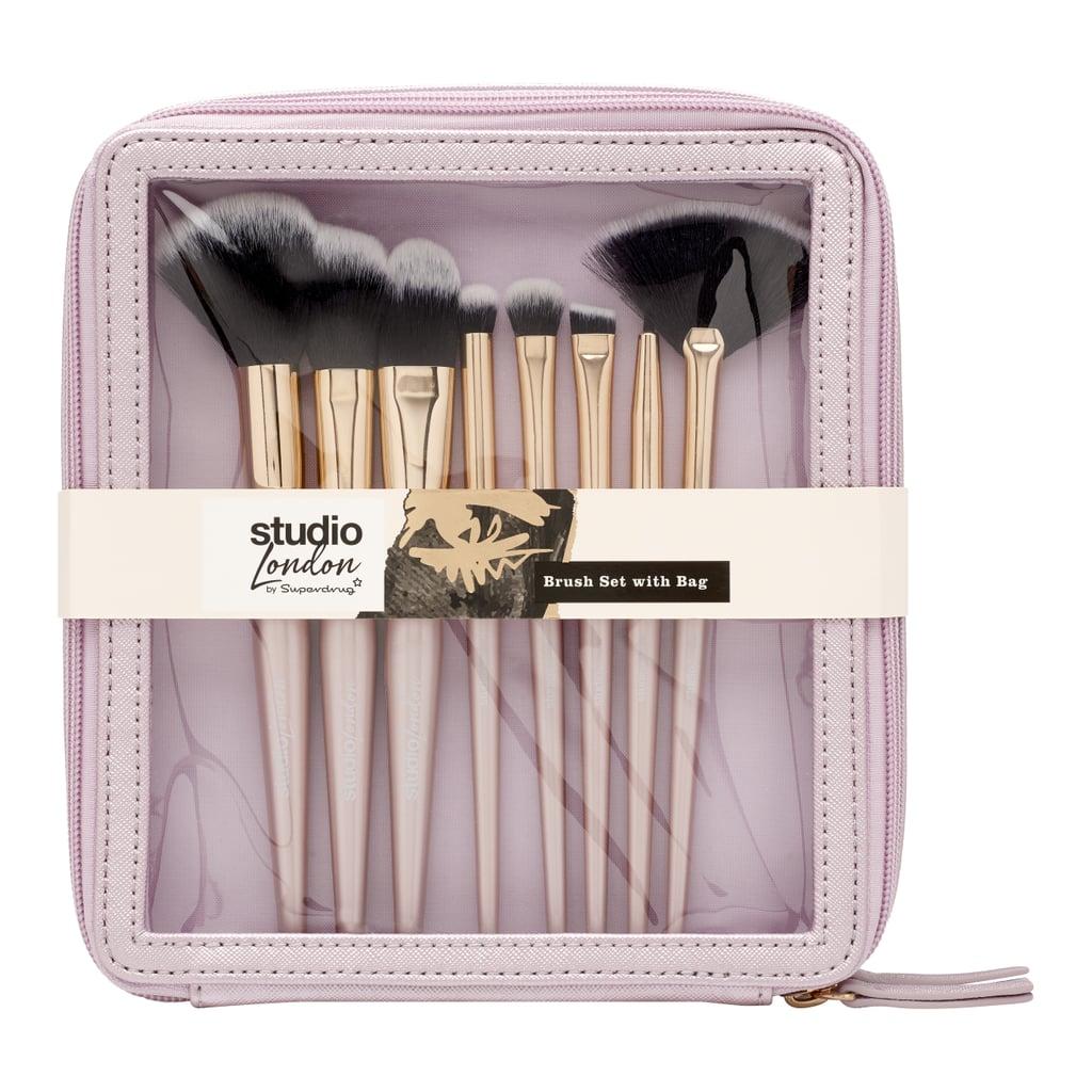 Superdrug Studio London Brush Set With Bag