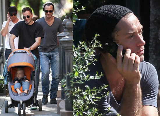 Photos of Jude Law and Jonny Lee Miller in New York City, Cleared of Assault Charges
