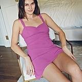 UO Johnson Ruffle Mini Slip Dress