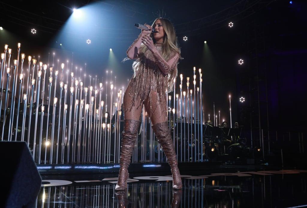 """Jennifer Lopez rocked the stage performing """"Ni Tu Ni Yo""""."""