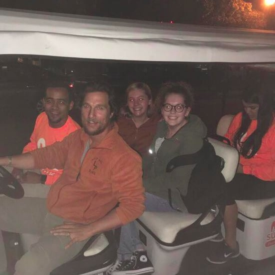 Matthew McConaughey Driving University of Texas Students