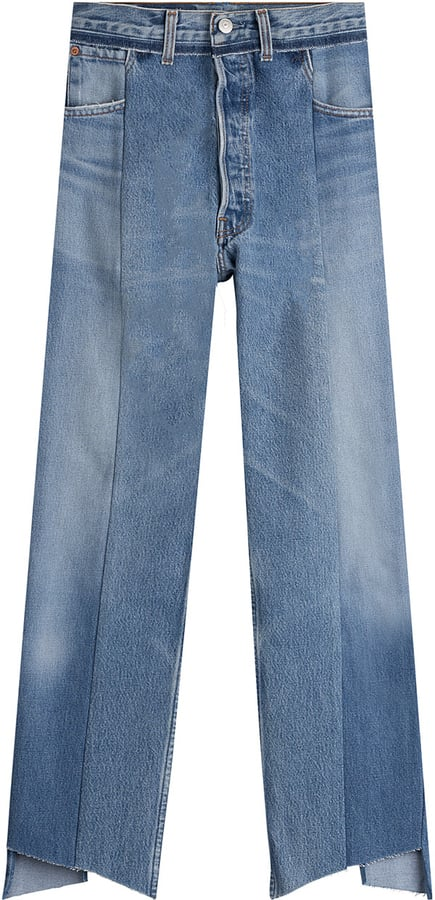 Vetements Reworked Cropped Jeans ($1,179)