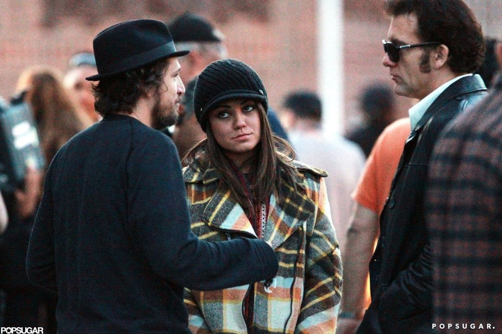 Mila Kunis and Clive Owen filmed a scene on the set of Blood Ties in NYC.