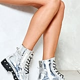 Nasty Gal Time to Reflect Metallic Boot