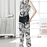 Let this J Brand look be a reminder that we can utilize a wide belt to break up our crazy prints.