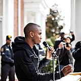 Trey Songz persuaded college students in North Carolina.  Source: Facebook User Obama for America