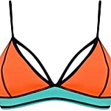 Kendall + Kylie at Topshop Colour block bikini top ($58)