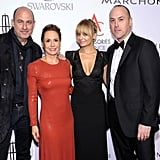John Varvatos, Karen Giberson, Nicole Richie, and Frank Zambrelli at an event at Cipriani's in NYC.