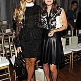 Harley Viera-Newton and Atlanta de Cadenet made a dramatic appearance in the front row of Jason Wu.