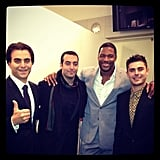 Michael Strahan hit up the Arbitrage premiere with Zac Efron, Nicholas Jarecki, and Mohammed Al Turki. Source: Instagram user moalturki
