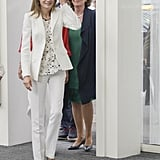 Letizia's All-White Look
