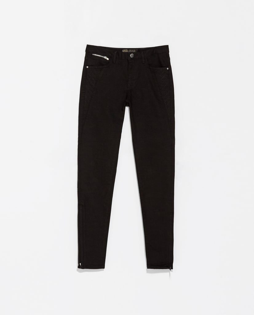 Zara Skinny Black Biker Trousers ($60)