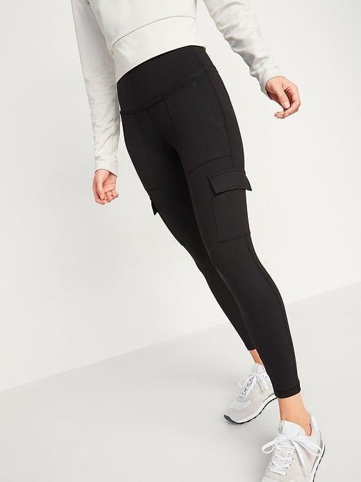 Old Navy High-Waisted Elevate Cargo 7/8-Length Compression Leggings