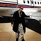 Ludacris was looking suave as he got ready to board a private jet. Source: Instagram user itsludacris
