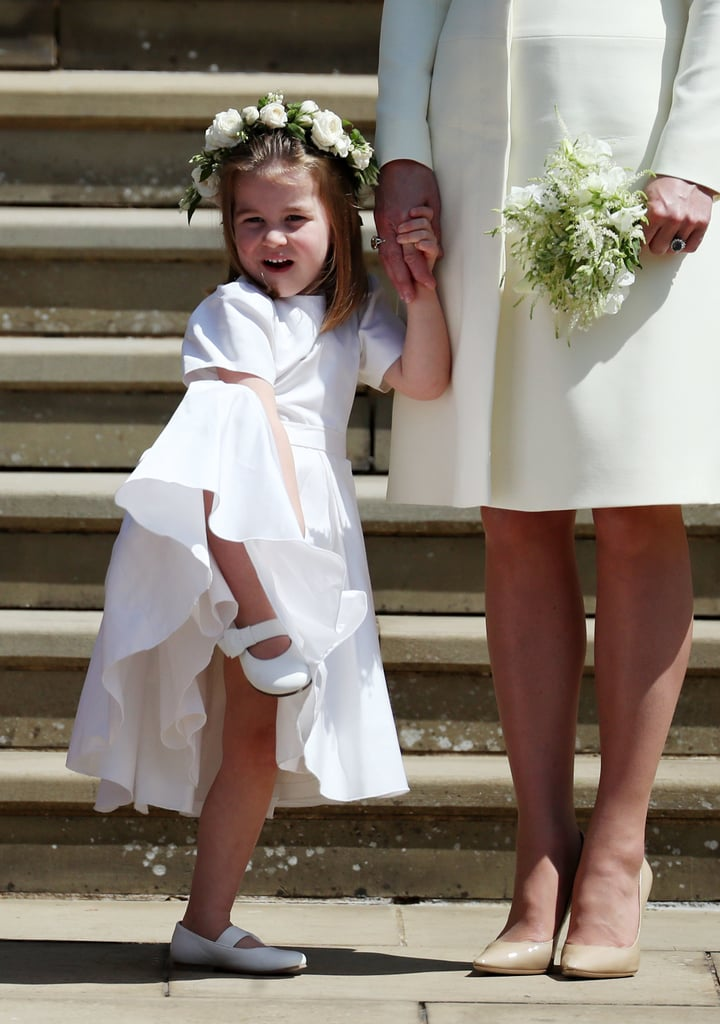Prince Harry and Meghan Markle tied the knot in a beautiful ceremony at St. George's Chapel on May 19, and Prince George and Princess Charlotte looked too cute for words. Sadly, Prince Louis was left at home, but his brother and sister played a big part in their uncle's wedding, serving as pageboy and bridesmaid. For the special occasion, George looked adorable in a black suit, and Charlotte was precious in a white dress. Of course, this wasn't George and Charlotte's first big wedding. Back in May 2017, they were both part of the bridal party for their aunt Pippa Middleton's nuptials, during which they also served as pageboy and flower girl. Read on to see more adorable photos of the young royals helping Harry and Meghan on their big day, but be warned: they'll make you melt.      Related:                                                                                                           See Every Single Stunning Photo From Prince Harry and Meghan Markle's Royal Wedding!