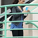 Pregnant Jenna Dewan went to the gym in LA.