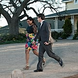 They leave the wedding hand in hand (but also Ryan totally abandons his baby. Oops).