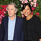 Robert De Niro and his wife Grace Hightower gave a smile at the Chanel dinner party at the 2012 Tribeca Film Festival.