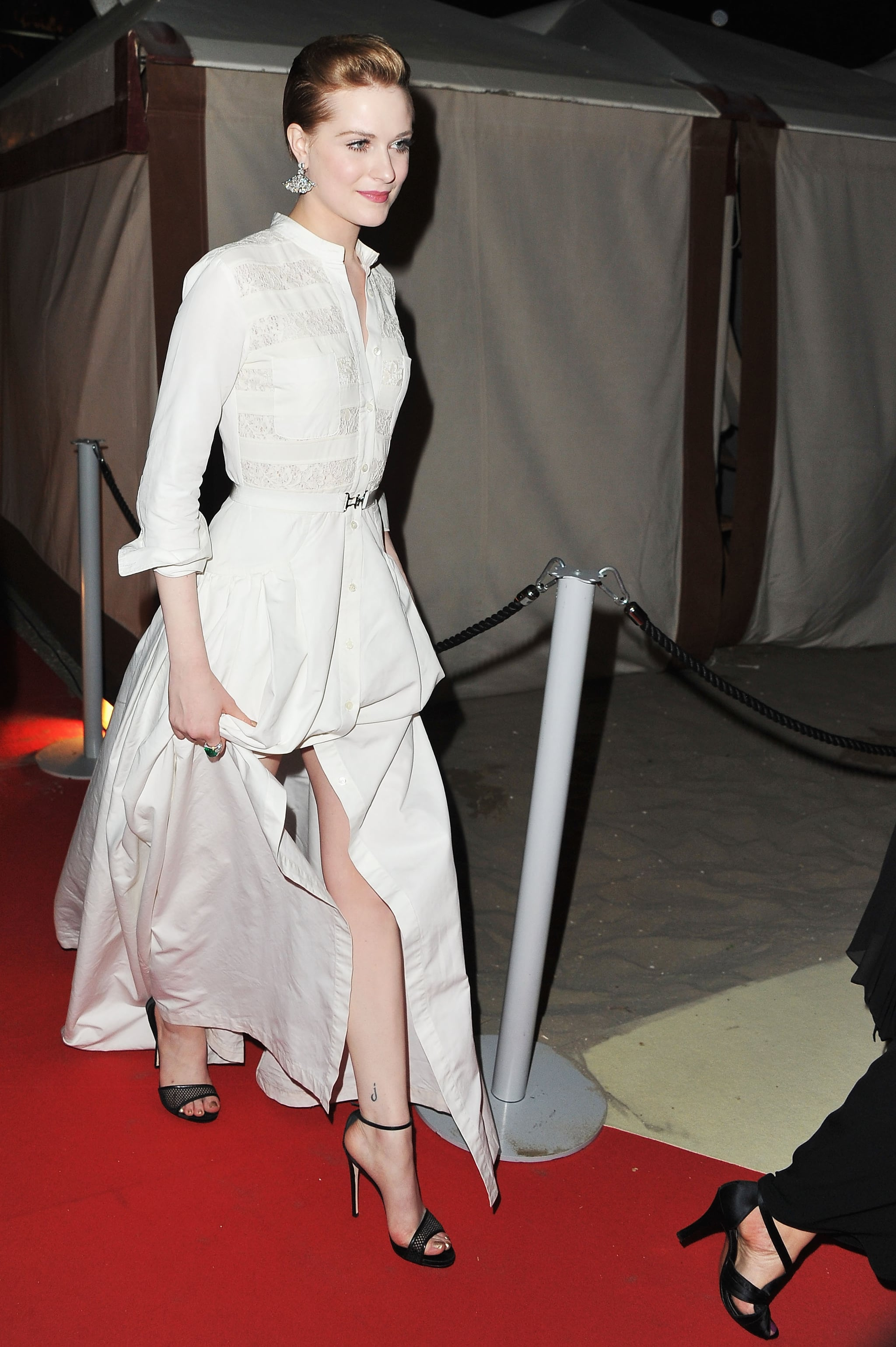 Evan Rachel Wood at the Venice Film Festival opening dinner.