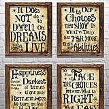 Harry Potter Quotes & Sayings Set of 4 Prints