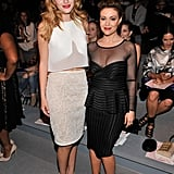 Bella Thorne and Alyssa Milano posed together at Thursday's Tadashi Shoji show.
