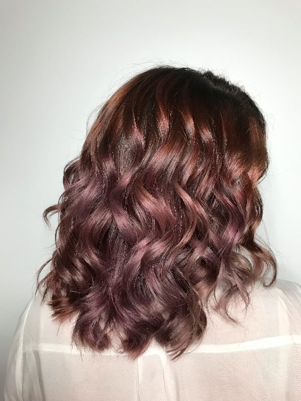 Chocolate Mauve With a Ring Light