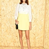Alexa Chung at the Miu Miu Paris Fashion Week Show