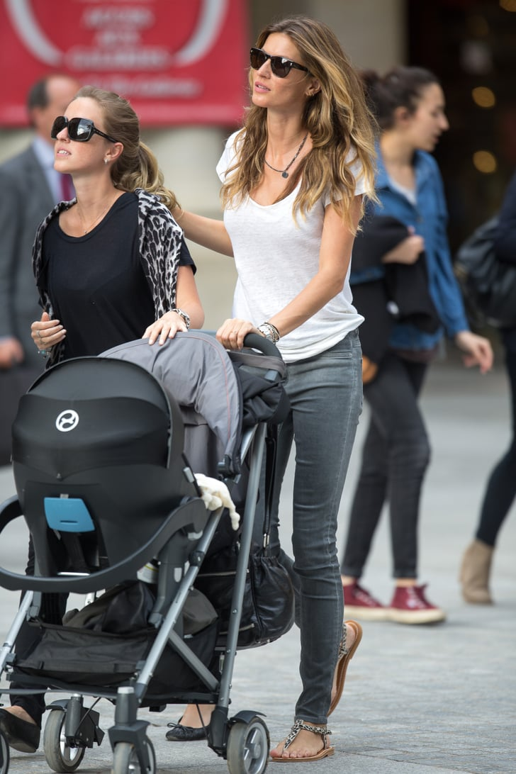 Gisele Worked Her Favorite Outfit With Sandals in the ...