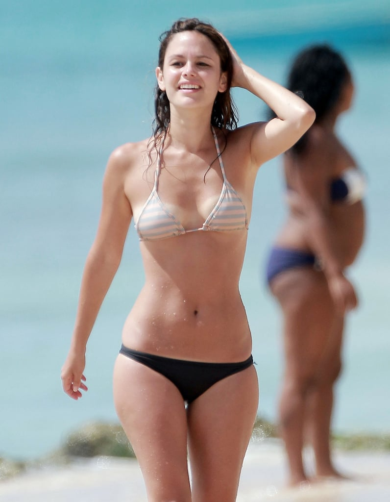 Rachel Bilson flaunted her bikini body in Barbados.