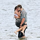 Miley Cyrus and Liam Hemsworth got wet and wild while filming The Last Song in Georgia back in June 2009.