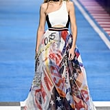 She Also Showed Off a Sporty Chiffon, One-Shoulder Dress