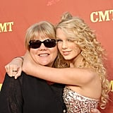 Taylor gave her mom a hug on the red carpet at the CMT Music Awards in April 2007.