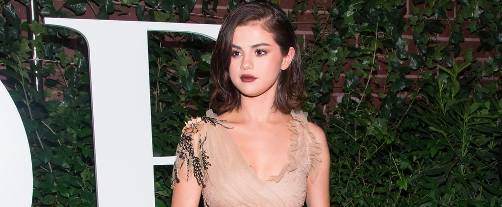 Selena Gomez Took All the Right Precautions to Wear This Completely Sheer Dress